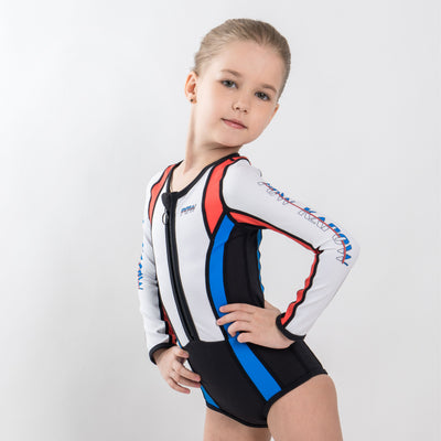 Speed Swimsuit Long Sleeve (Red / Blue) - PowKapow