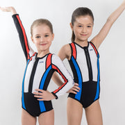 Speed Swimsuit Long Sleeve (Red / Blue) - Pow Kapow Kids Sportswear
