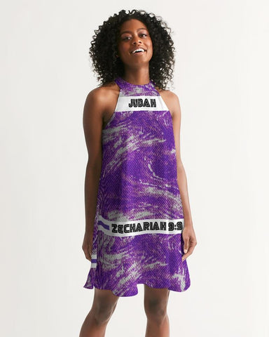 Purple Royalty Women's Halter Dress