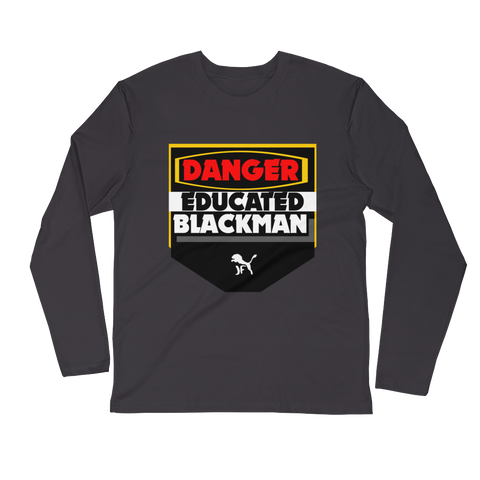 Men's Long Sleeve Fitted Danger Shirt
