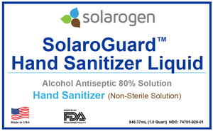 SolaroGuard™ Hand Sanitizer Liquid Solution | 1qt | Case