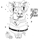 Happy New Year pig - 180159