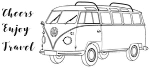 Happy Travels - VW-bus Travel - 190089