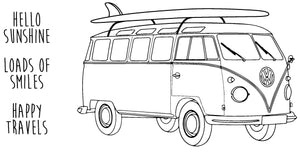 Happy Travels - VW-bus Surfing - 190091