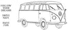 Happy Travels - VW-bus Drive Safe - 190094
