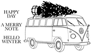 Happy Travels - VW-bus Kerstboom - 190095