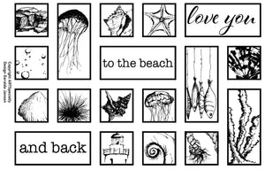Collage Love you to the beach and back - 20003