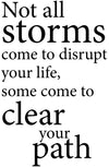 Not all storms come to disrupt your life, some come to clear your path - 20024
