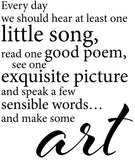 Every day we should hear at least one little song, read on good poem - 20027