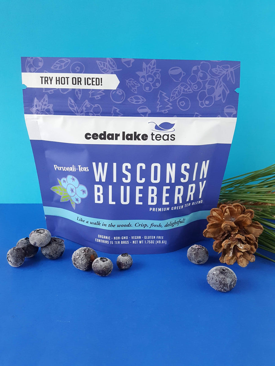 Personali-Teas Wisconsin Blueberry - Cedar Lake Teas