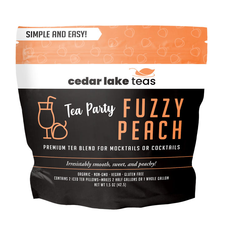 Tea Party Fuzzy Peach Mocktail and Cocktail Tea - Cedar Lake Teas