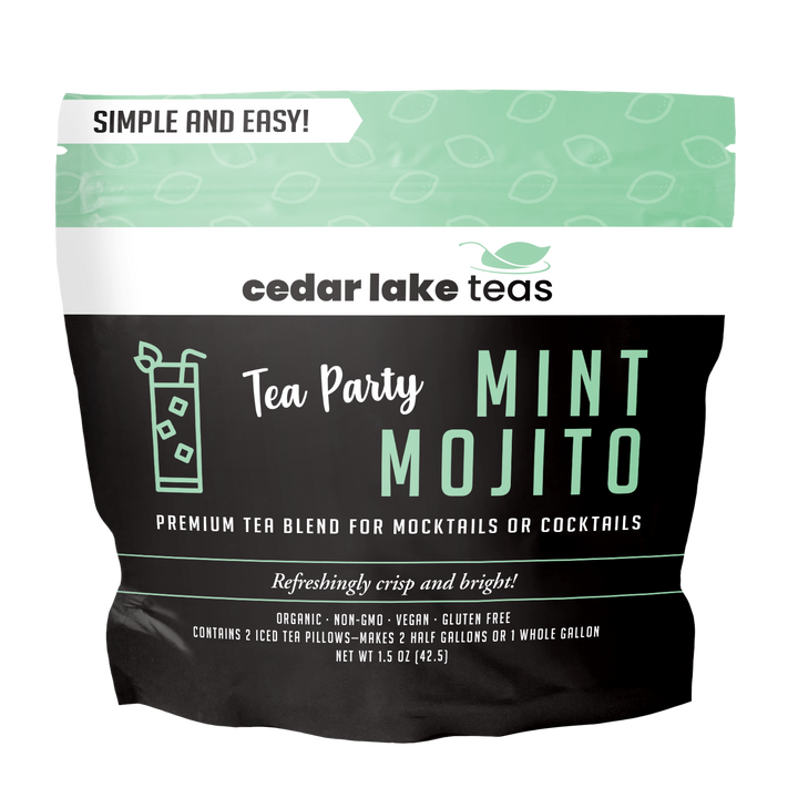 Tea Party Mint Mojito Mocktail and Cocktail Tea - Cedar Lake Teas