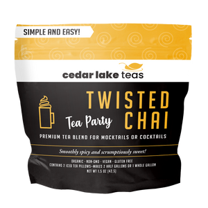 Tea Party Twisted Chai Mocktail and Cocktail Tea - Cedar Lake Teas