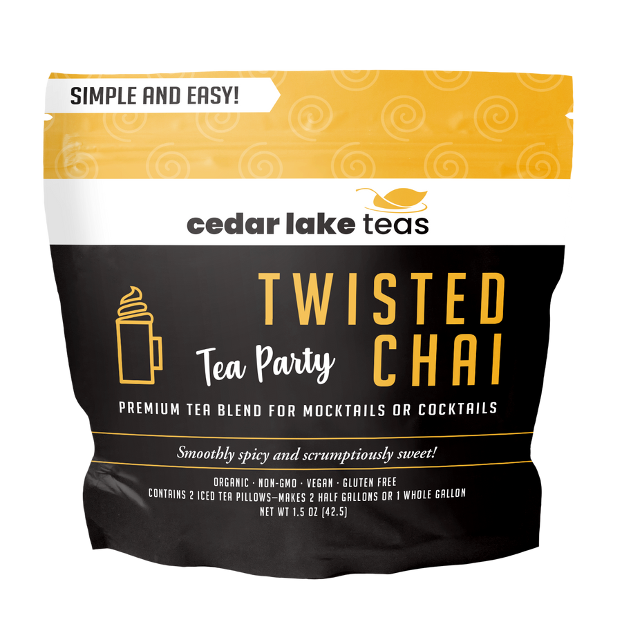 Tea Party Twisted Chai Mocktail and Cocktail Tea