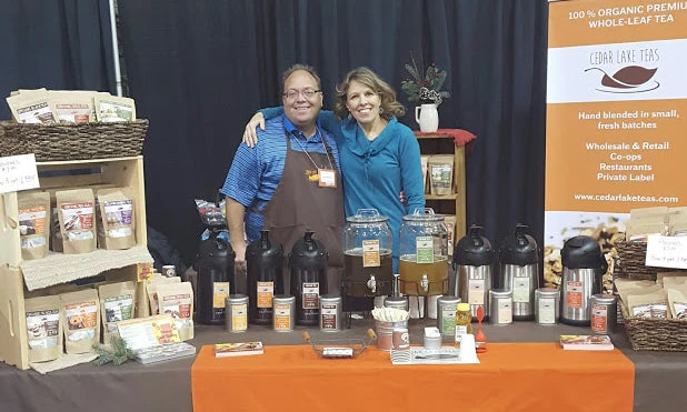Expo picture of Cedar Lake Teas owners