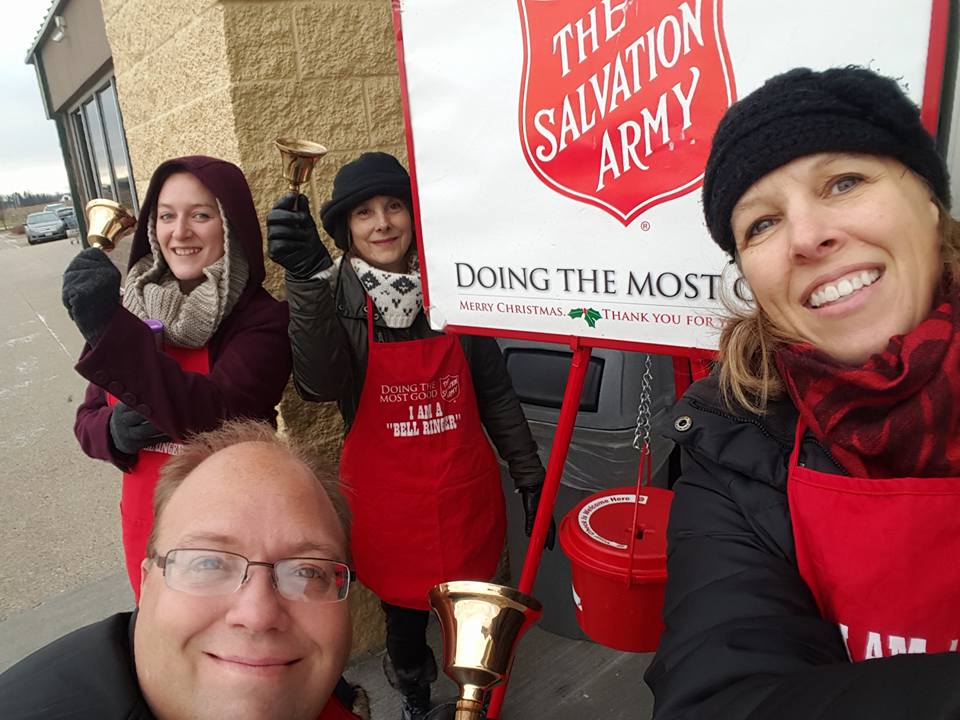 cedar lake teas salvation army bell ringing