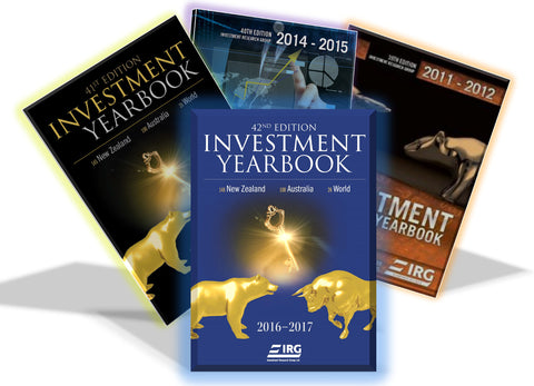 4x IRG Investment Yearbook (42nd, 41st, 40th AND 39th) Combo