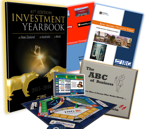 2015-2016 Yearbook, The NZ Investment Game, The ABC of Business and Comprehensive Analysis + Key Fundamentals of a sector of your choice.
