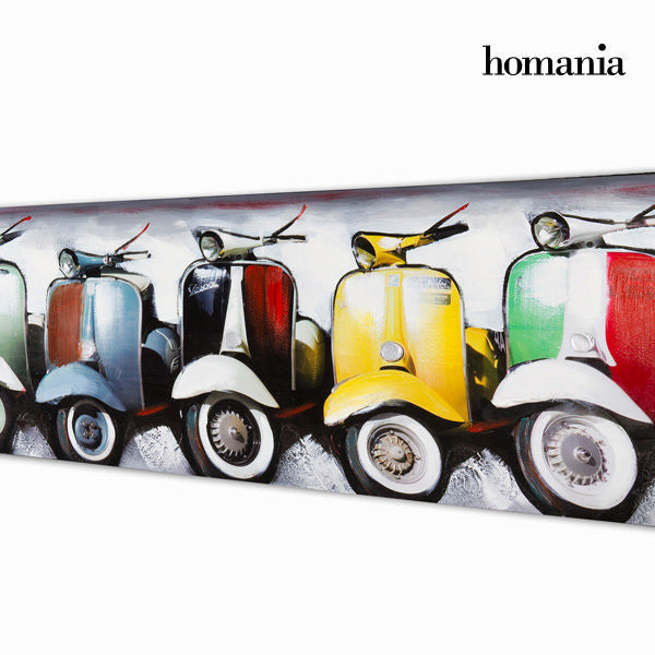 Vespa motobike oil painting by Homania