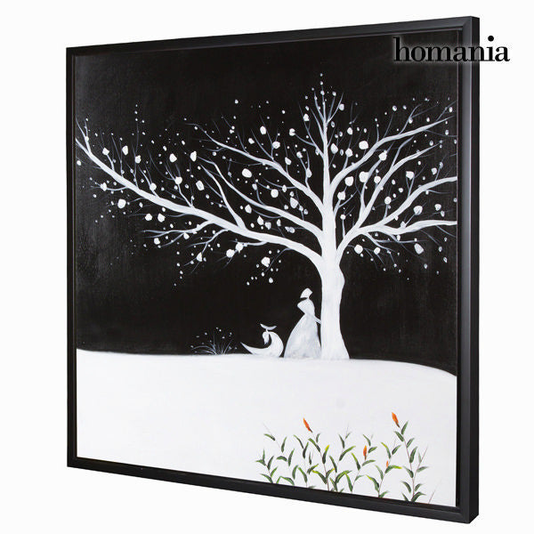 White tree oil painting by Homania