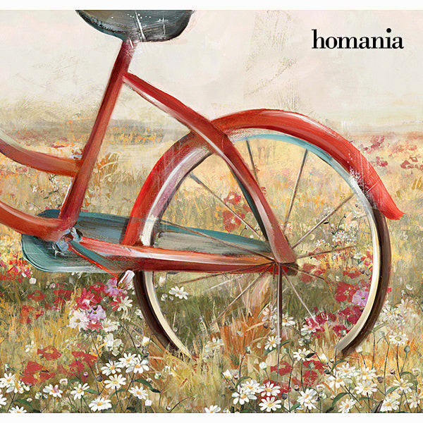Red bicycle canvas frame by Homania