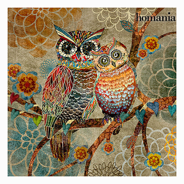 Owls canvas frame by Homania