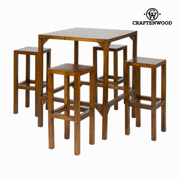 High table with 4 stools - Franklin Collection by Craften Wood
