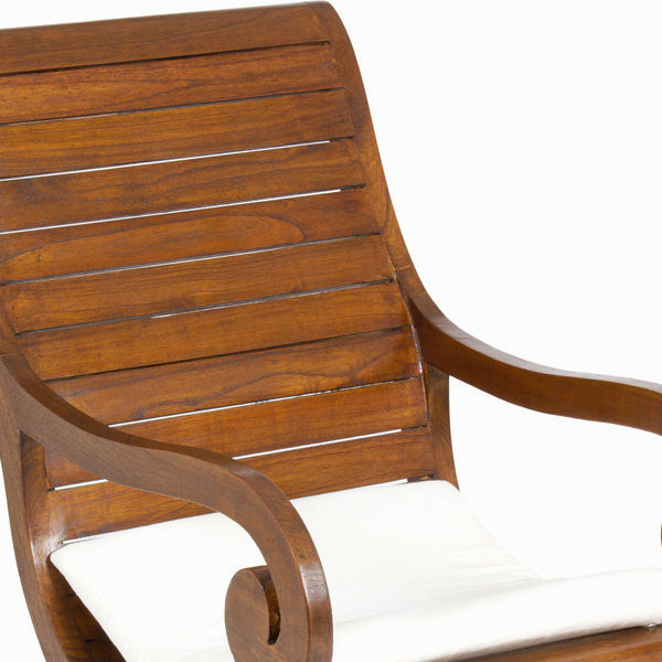 Walnut rocking chair with cushion by Craften Wood