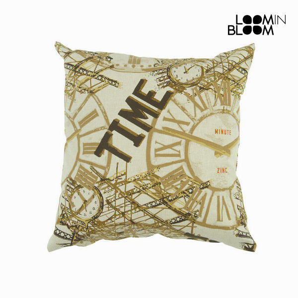 Brown clock cushion by Loomin Bloom