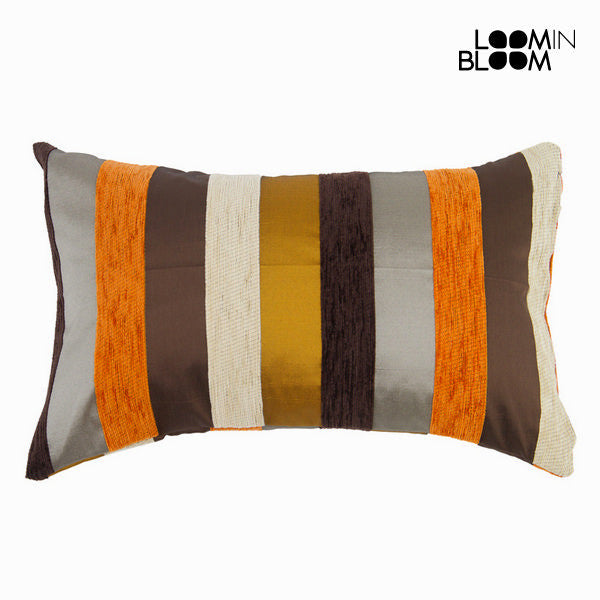 Orange motegi cushion - Colored Lines Collection by Loomin Bloom