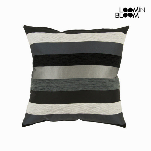 Motegi cushion black - Colored Lines Collection by Loomin Bloom