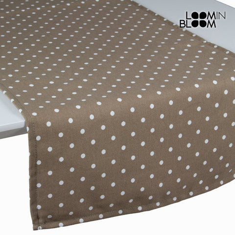Beige polka dot table runner - Little Gala Collection by Loomin Bloom