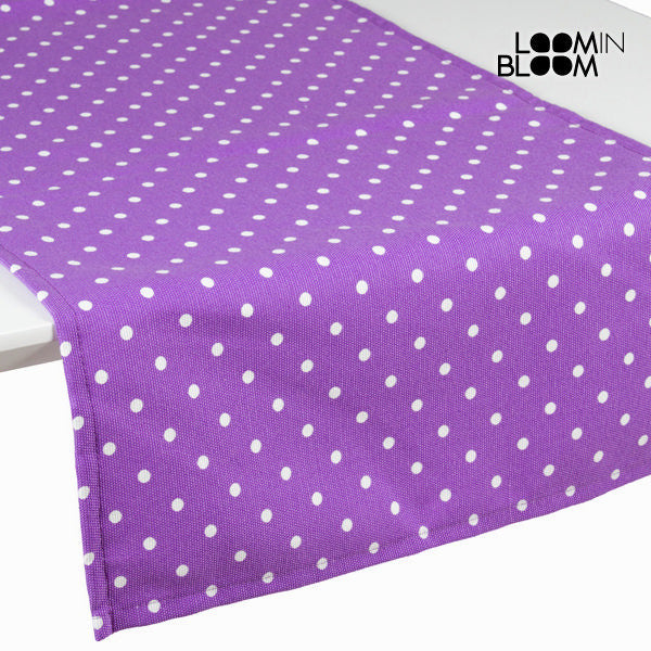 Purple polka dot table runner - Little Gala Collection by Loomin Bloom