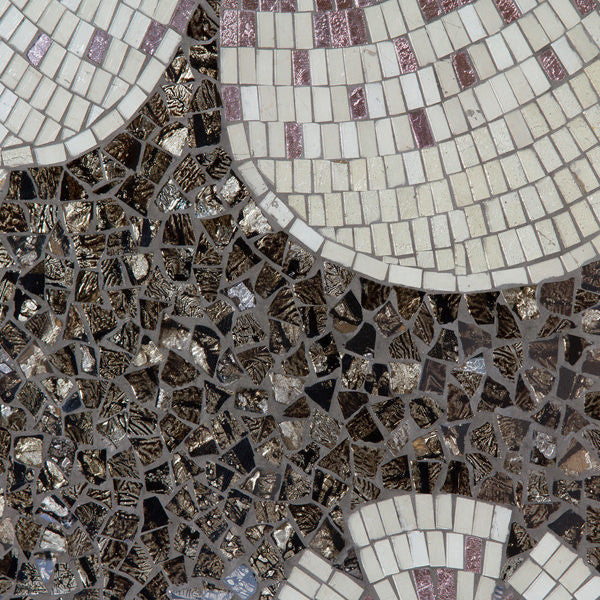 Mosaic flower glass wall decor - Alhambra Collection by Homania