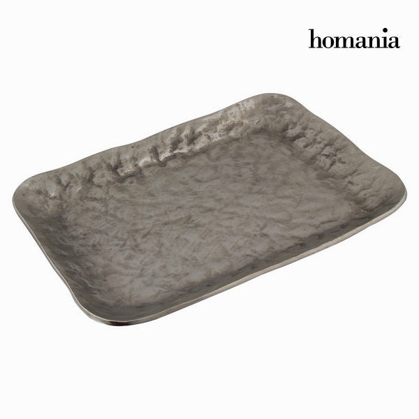 Square aluminum center piece silver - New York Collection by Homania