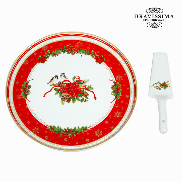 Cake serving set in porcelain by Bravissima Kitchen