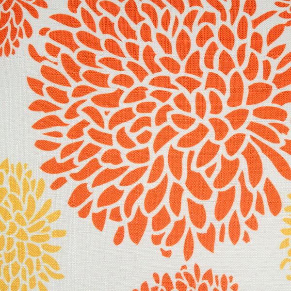 Cushion flower orange and yellow by Loomin Bloom
