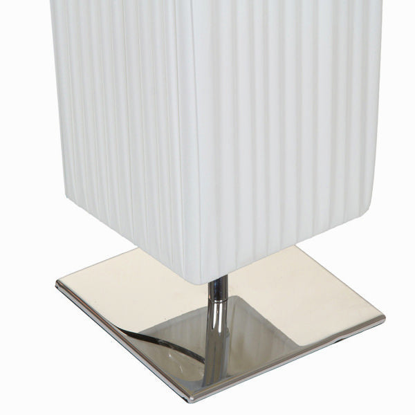 White cloth table lamp by Shine Inline
