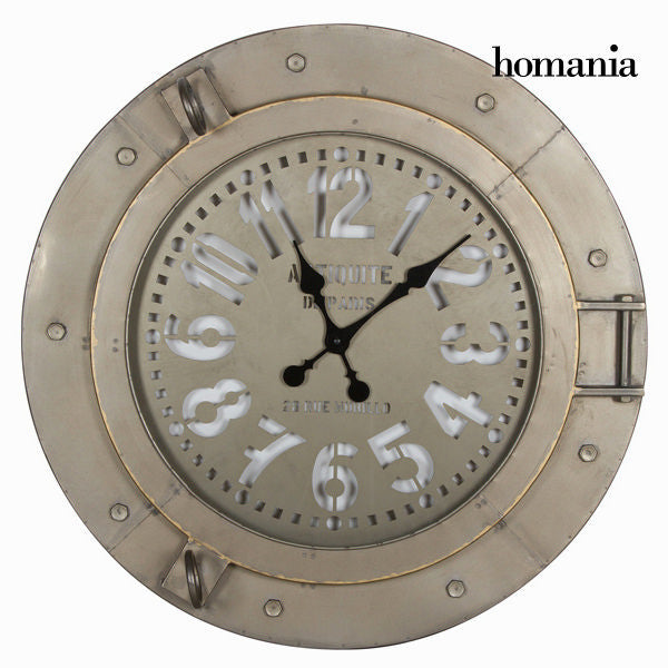 Light gray metal clock - Art & Metal Collection by Homania