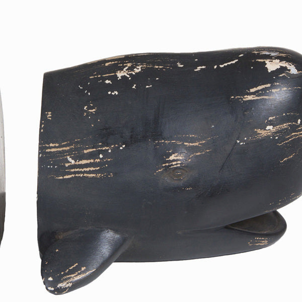 Set of 2 whale book ends by Homania