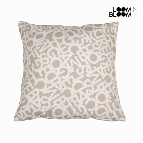 Abc beige pude 60x60 cm by Loom In Bloom