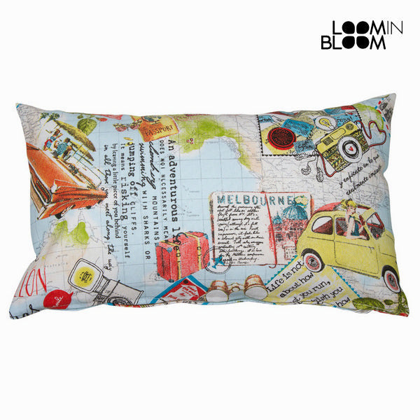 Voyage blue cushion by Loomin Bloom