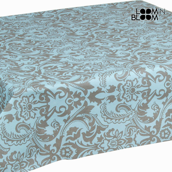 Turquoise arabesque tablecloth by Loomin Bloom