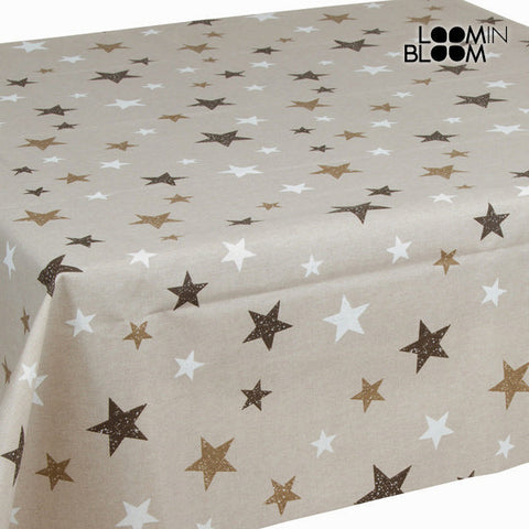 Beige stars tablecloth by Loomin Bloom