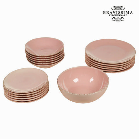 19 piece pink dinner set - Kitchen's Deco Collection by Bravissima Kitchen - Kæmpe udvalg af Kosmetik, Gadgets & interiør - Greatskin.dk