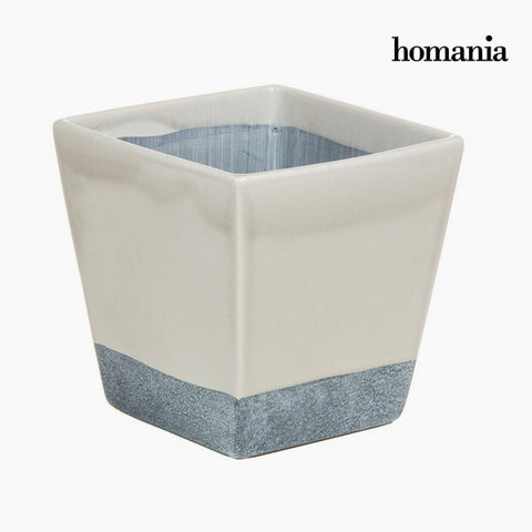 Beige and gray ceramic pot by Homania