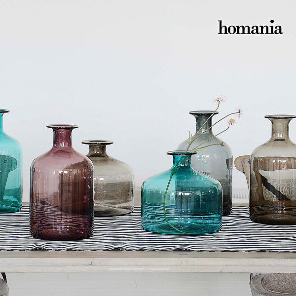 Turquoise glass vase by Homania