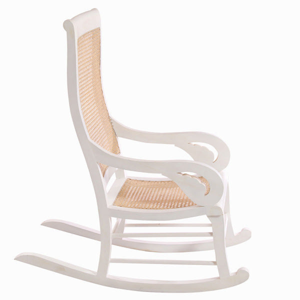 White teak rocking chair by Craften Wood