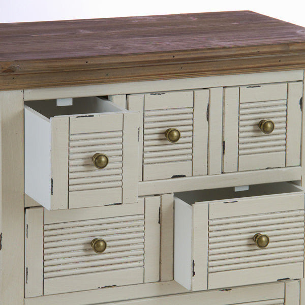 Dresser table with 7 drawers - Winter Collection by Craften Wood