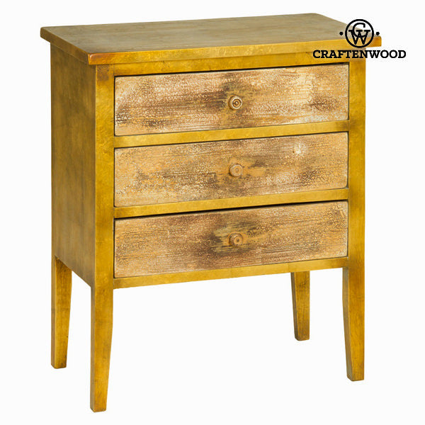 Cabinet with 3 drawers gold by Craften Wood